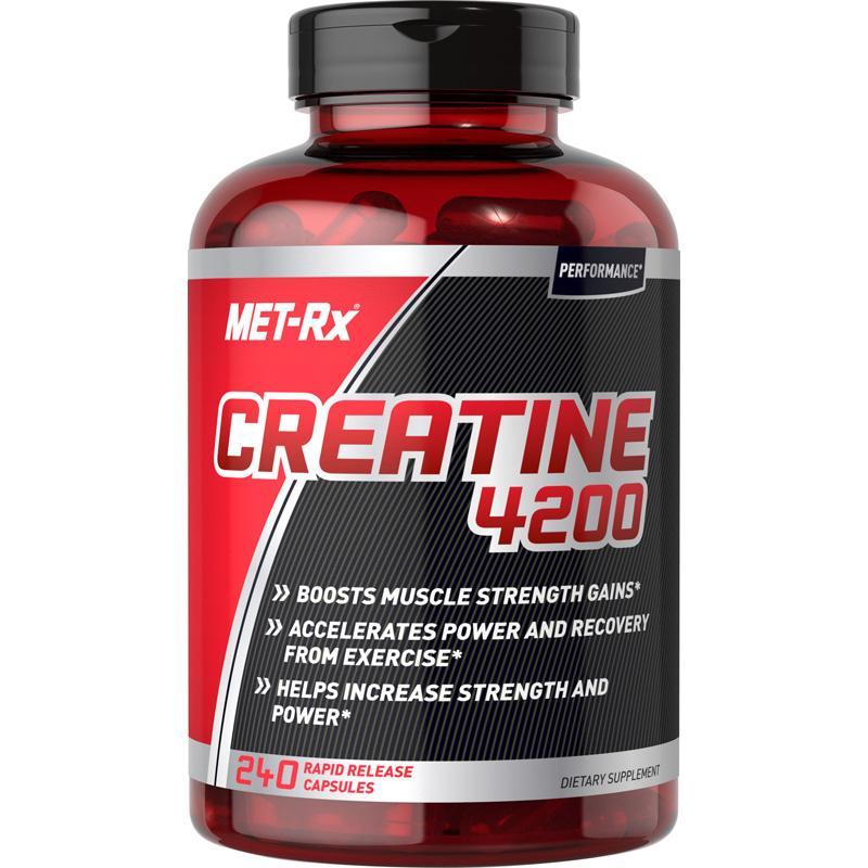 MET Rx Creatine 4200 Capsules, 240 count