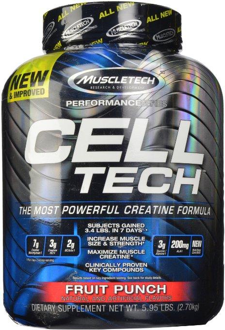 MuscleTech Cell Tech Performance Series Creatine Powder, 2.7 kg