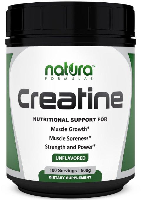 Natura Formulas Creatine Powder, 500 grams