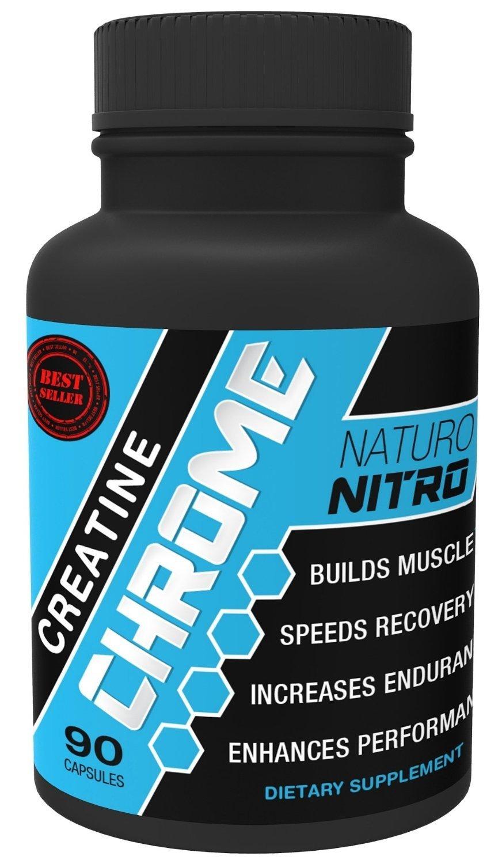 Naturo Nitro Creatine Chrome Capsules, 90 count